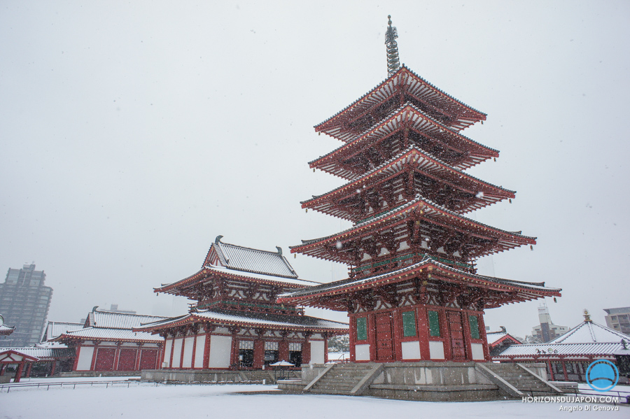 temple-shitennoji-osaka-neige