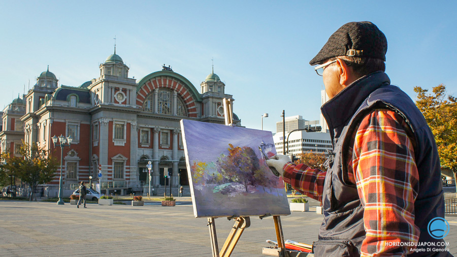 osaka city hall-peintre