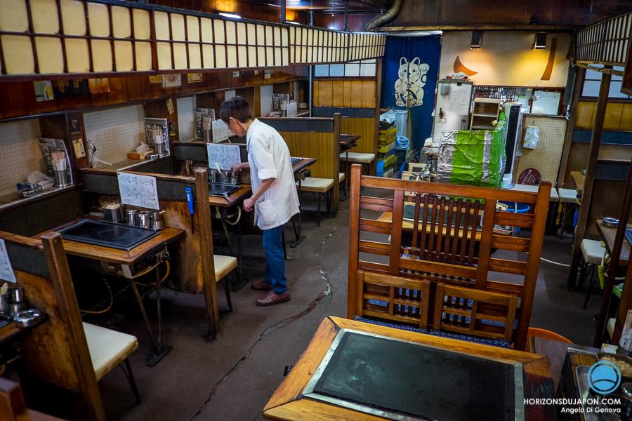 Restaurant Okonomiyaki old school-Osaka