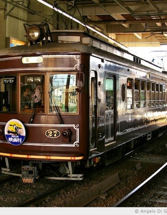 Randen, le plus vieux tram de Kyoto