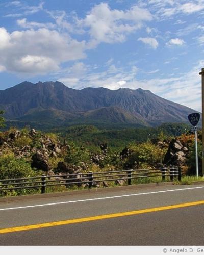 Le volcan de l'île de Sakurajima